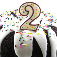 Hooray, it's Our 2nd Birthday and We're Celebrating with a Skinnylicious Red Velvet Cake!