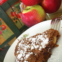 Apple Pecan Raisin spice torte cake {GF option also}