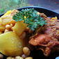 Tagine of Golden Chicken with Potatoes and White Beans