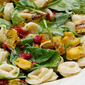 Roasted Delicata Squash & Tortellini Salad With Cranberries, Greens & Pepitas