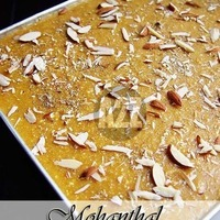 Authentic Mohanthal For Diwali - A Traditional Gujarati Sweet - Chickpea Flour Fudge