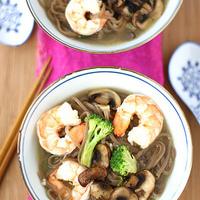Easy Shrimp, Mushroom & Soba Noodle Soup Recipe