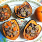 Savory Stuffed Acorn Squash with Lamb and Cranberries