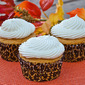 Dulce de Leche Filled Pumpkin Cupcakes