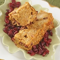 Pumpkin Cranberry Bread Pudding #glutenfree