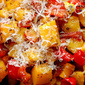 Roasted Butternut Squash & Red Peppers With Rosemary, Garlic & Parmesan