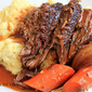 Perfect Pot Roast with Creamy Mashed Potatoes-- and we have a Giveaway Winner!