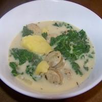 Chicken Sausage, Sweet Potato and Kale Soup