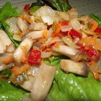 Vegan spicy sautéed mushrooms in 10 minutes.