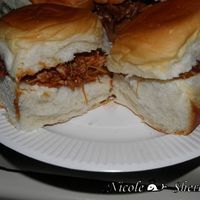 Cheater Cheater Barbequed Chicken Sliders