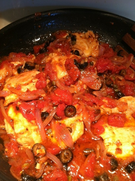 Chicken with Olives, capers & Tomatoes