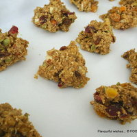 rustic NUT and FRUIT cookie SPELT rocher