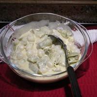 Artichoke Hearts & Pearl Onion in Mustard Horseradish Bechamel Sauce