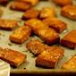 Baked Ginger Soy Tofu Squares