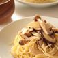 キノコの冷製スパゲッティー