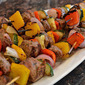 Marinated Steak and Vegetable Kabobs