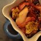 orange-scented apple blackberry crisp