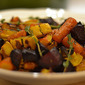 roasted winter vegetables with fresh thyme