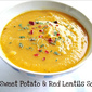 Sweet Potato & Red Lentils Soup