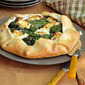 Savory Pies- Rapini Galette with Goat Cheese & Red Pepper