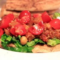 Curried Chickpea and Quinoa Flatbread