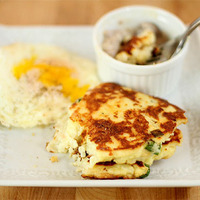 Mashed Potato Cakes with Scallions and Parmesan Cheese