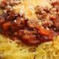 Winter Red Sauce over Spaghetti Squash