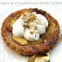 APPLE & WALNUT BROWN BUTTER TARTLETS