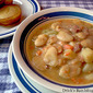 White Lima Bean Soup from Ham-bone Stock