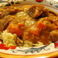 Beef and Sweet Potato Stew with Homemade Spaetzle