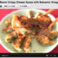 Spinach Bacon Crispy Cheeze Gyoza with Balsamic Vinegar - Video Recipe