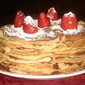 torta di crepes e nutella