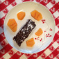 Gingerbread Cake with Drunken Raisins and Persimmon