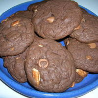 TRIPLE CHOCOLATE FUDGE PECAN COOKIES