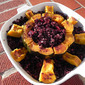 Cranberry Black Rice Stuffed Acorn Squash