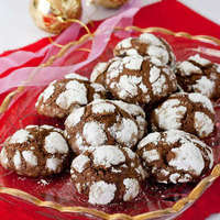 Chocolate Crackle Cookies (Christmas treats)