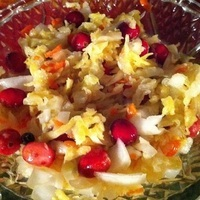 Homemade Sauerkraut with cranberries!