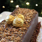 Ferrero Rocher Milk Chocolate with Hazelnut Cake for New Years