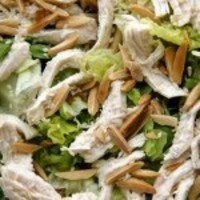 Green salad with grilled chicken pieces