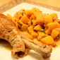 Braised Turkey Thighs with Onions & Butternut Squash