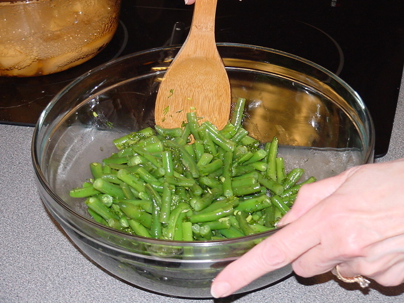 how to cook steamed green beans