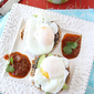 Southwestern Eggs Benedict with Black Bean Spread, Avocado & Salsa Recipe