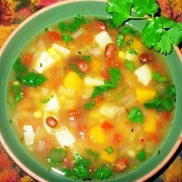 Three Sisters Soup (Beans, Corn and Squash Soup) with Crock Pot Option