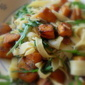 Pappardelle with Roasted Winter Squash, Rocket and Pistachios