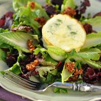 Mini Green Chile Quiche Recipe and Endive Salad with Tomato Pesto