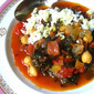Delicious Spanish Chickpea & Chorizo Soup