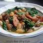 Spanish Sausage, Bean, Spinach Soup