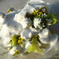 Broccoli florets with Gorgonzola dressing