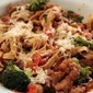 Linguine in a Red Wine Sauce with Turkey Sausage and Broccoli