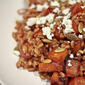 Warm Farro Salad with Roasted Sweet Potatoes, Pepitas and Queso Fresco